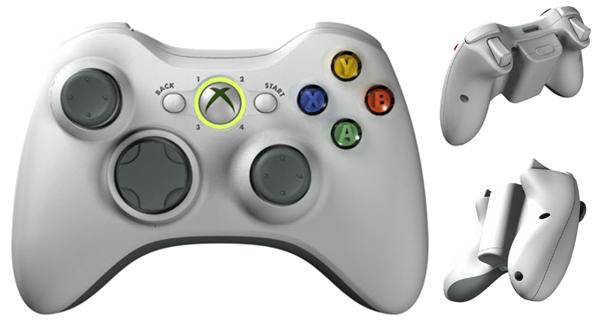 XBox 360 ovladač bílý
