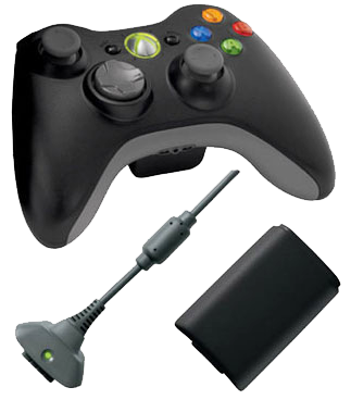 bezdrátový ovladač na XBox 360 + play and charge kit