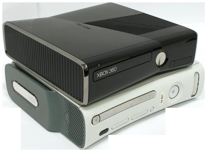 XBox 360 srovnání staré a Slim konzole